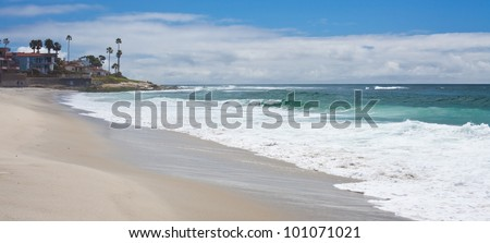 California Beach Sunny La Jolla Shores San Diego, Southern California