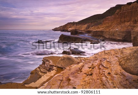 California Coast. Cabrillo National Monument Tide Pools. San Diego, California USA