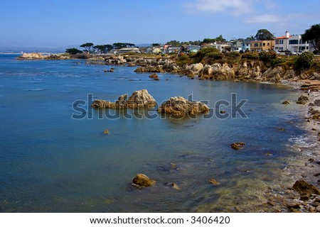 California Coast, Monterey California - stock photo