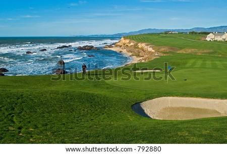 California coastal golf course