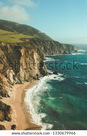 California coastline Beach #1330679966