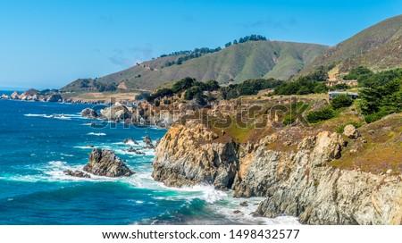 California coastline near Monterey in summer