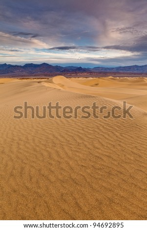 California desert. Image of Mesquite Dunes in Death Valley National Park, California, USA.