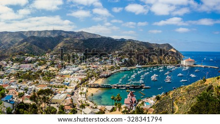 California island paradise. An ideal day captured on the Southern California island getaway - Catalina.