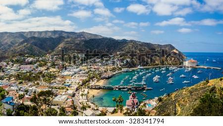 California island paradise. An ideal day captured on the Southern California island getaway - Catalina.