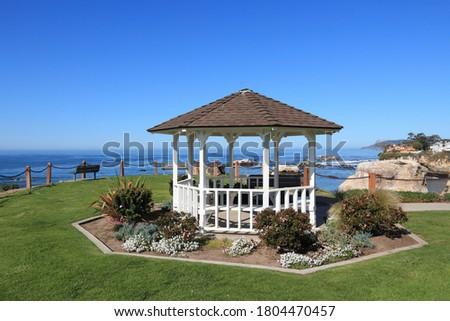 California landscape, USA - coast of Shell Beach (Pismo Beach). Margo Dodd Park. Zdjęcia stock ©