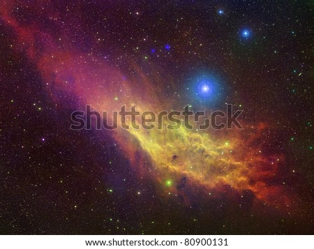 California nebulae color