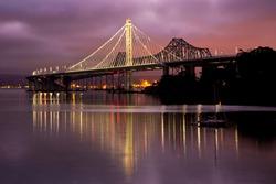 California New Bay Bridge in Morning Light