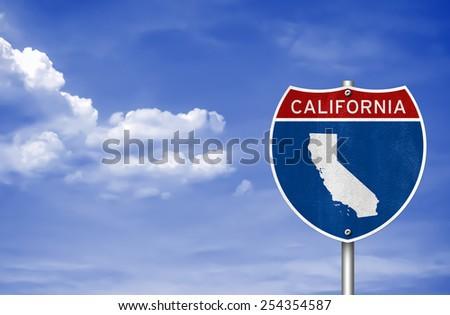 california road sign concept