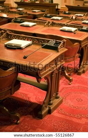 California Senate Chamber Desks