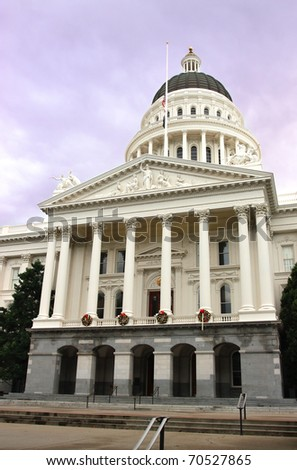 California State Capitol building during winter.