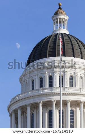 California State House and Capitol Building in Sacramento, CA