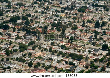 california suburbs, in Los Angeles