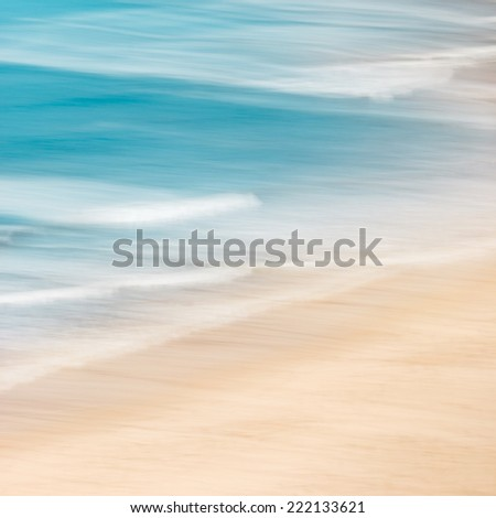 California surf and sand with panned motion blur and soft pastel colors. #222133621