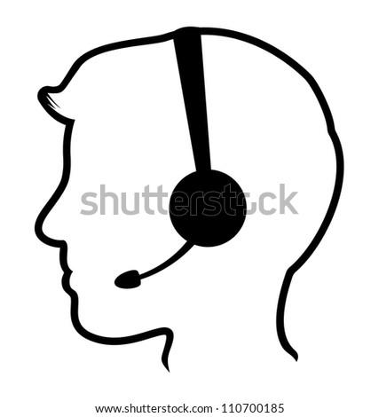 call center man icon