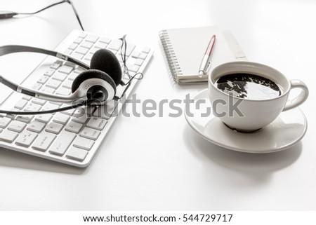 call center manager desktop mock up white background #544729717