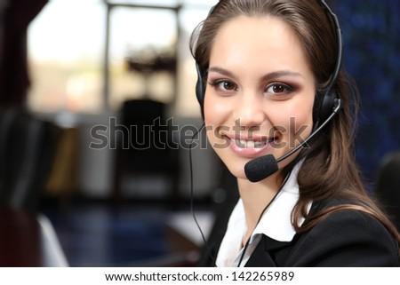 Call Center Operator At Work