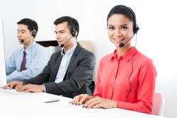 Call center (operator or telemarketer) team