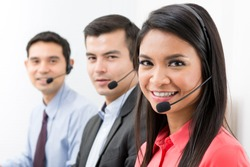 Call center (telemarketing or customer service) team