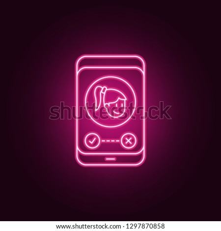 call from beloved icon. Elements of Friendship in neon style icons. Simple icon for websites, web design, mobile app, info graphics