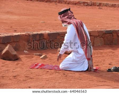 Call to Prayer on the red sands of Wadi Rum, Jordan