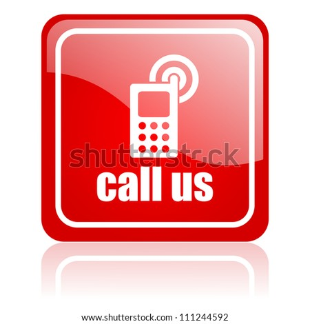 call us icon - stock photo