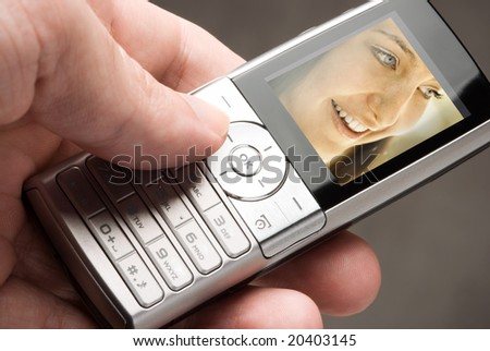 call you - stock photo