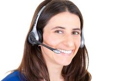 callcenter woman customer support phone operator in headset