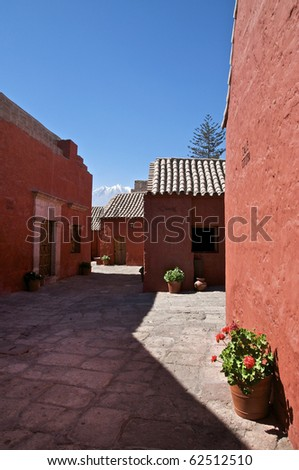 Calle Cordoba at the Santa Catalina Monastery in Arequipa, Peru