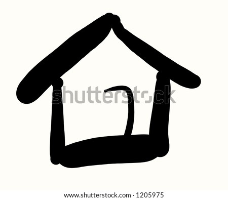 Calligraphic House - stock photo