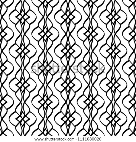 Calligraphic pattern with curls on white background. illustration #1111080020