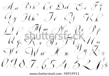 Calligraphy Writing Alphabet