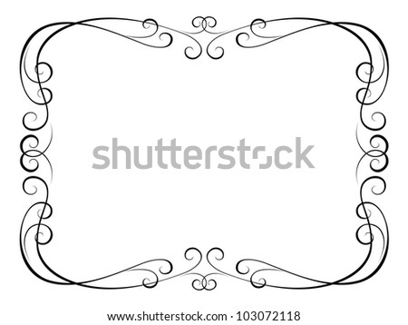 calligraphy ornamental decorative frame - stock photo