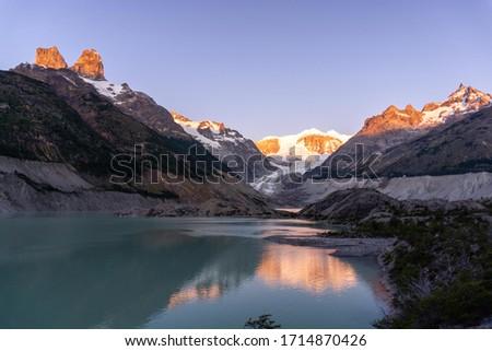 Calluqueo glacier in X901 route near Cochrane, Patagonia Chile