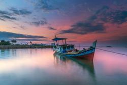 Calm morning in Pantai Air Saga, Belitung Island, Indonesia