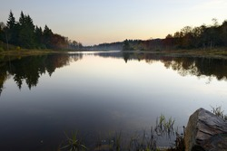 Calm Mountain Lake at Dawn