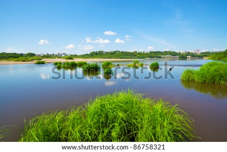 Calm River - stock photo