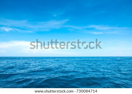 Calm Sea and Blue Sky Background. #730084714