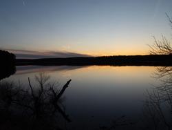 Calm Sunset on Falls Lake, North Carolina