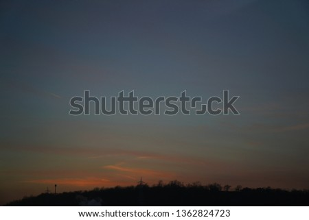 calm sunset sky #1362824723