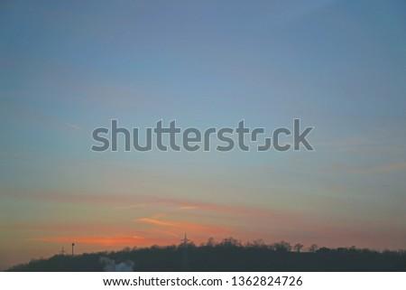 calm sunset sky #1362824726