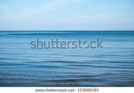 calmly blue sea