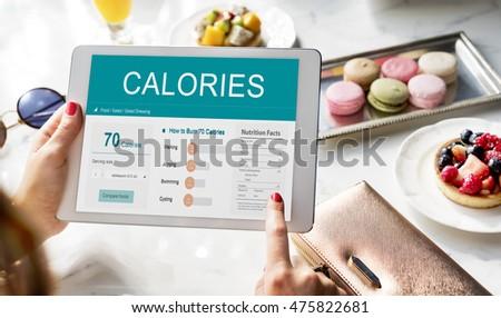 Calories Nutrition Food Exercise Concept