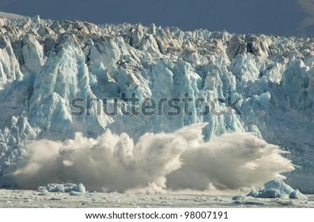 Calving glacier in Alaska.