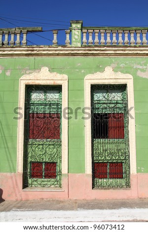Camaguey, Cuba - old town listed on UNESCO World Heritage List. Colonial Architecture.