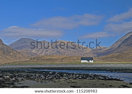 Camasunary Bay and Cuillins Mountain Range, Isle of Skye, Scotland