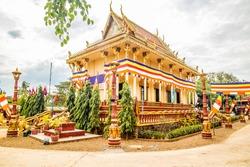 Cambodia Pagoda at Happy New Year Season