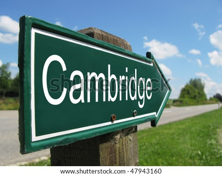 CAMBRIDGE road sign