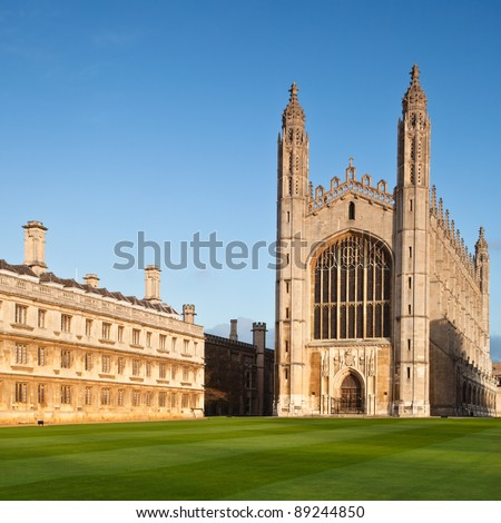 Cambridge University Kings College Chapel