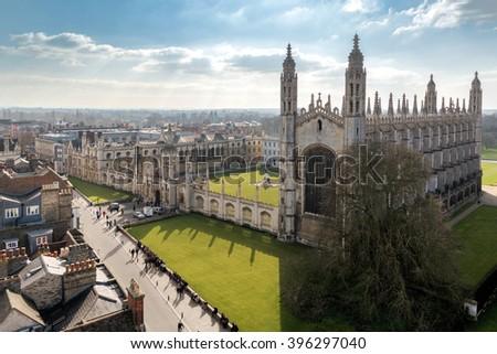 Cambridge University Top View #396297040
